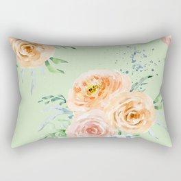 Pastel Floral Pattern 02 Rectangular Pillow