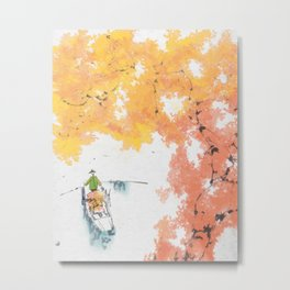 Autumn Drifting Metal Print