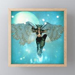 Wonderful angel in the sky Framed Mini Art Print