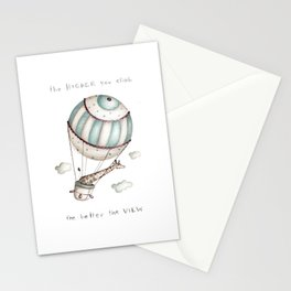 The higher you climb, the better the view Stationery Cards