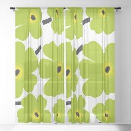 Finnish Flower Sheer Curtain
