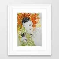 ruby Framed Art Prints featuring Ruby by Aggelikh Xiarxh