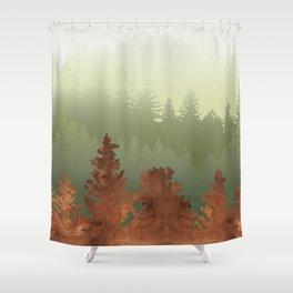 Treescape Green Shower Curtain