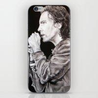 eddie vedder iPhone & iPod Skins featuring Eddie Vedder - Pearl Jam by whiterabbitart