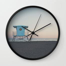 sunset on the coast ... Wall Clock