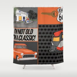 Route 66 Classic Living Shower Curtain