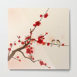 Oriental plum blossom in spring 007 Metal Print
