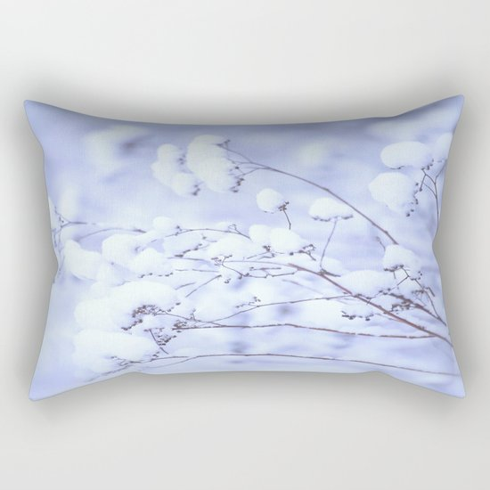 Snowy Softness  Rectangular Pillow