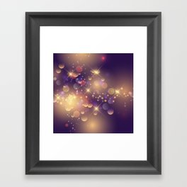 Festive Sparkles in Purple Framed Art Print