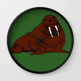 The august walrus Wall Clock