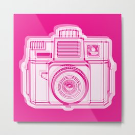 I Still Shoot Film Holga Logo - Reversed Pink Metal Print