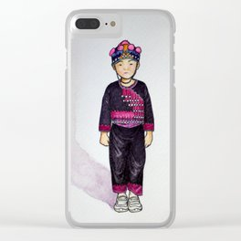 Hmong boy at Ban Tung Sai school Clear iPhone Case
