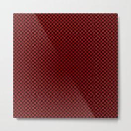 Mosaic black and red Metal Print