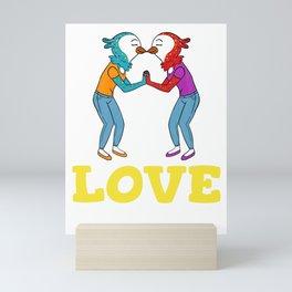 Love Always Wins Mini Art Print