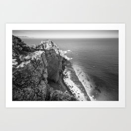 Cliffs along Cape Point, South Africa Art Print