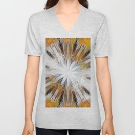 Sunburst Abstract Unisex V-Neck