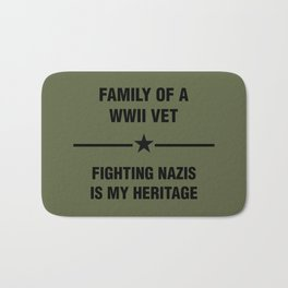 WWII Family Heritage Bath Mat