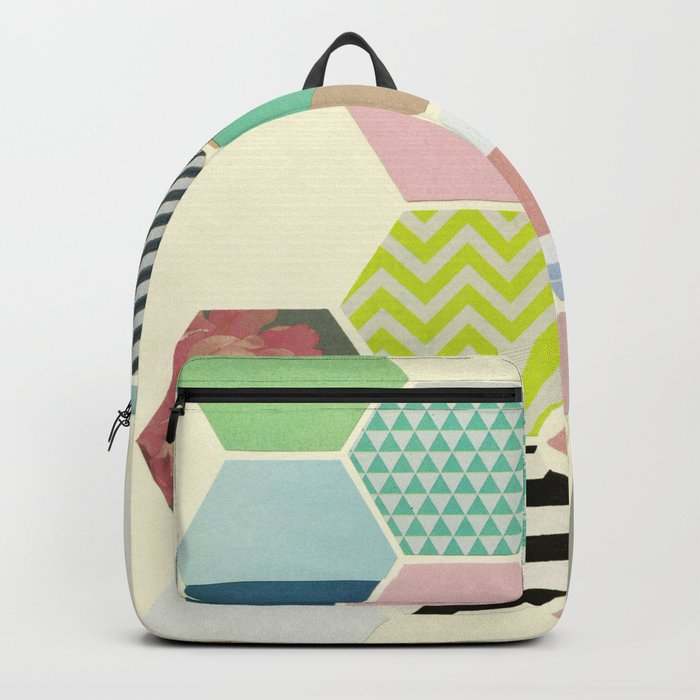Florals and Stripes Backpack