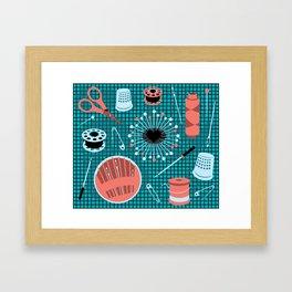 pins and needles Framed Art Print