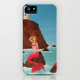 Mermaids on a rock iPhone Case