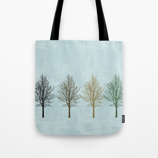 Four Colors Trees Tote Bag