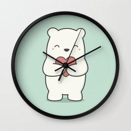 Kawaii Cute Polar Bear Wall Clock