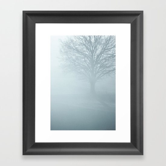 Tree / Winter Silence Framed Art Print