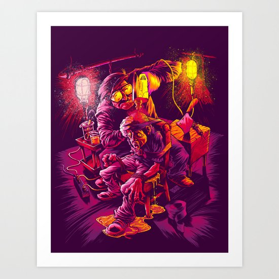 BASEMENT LOBOTOMY Art Print