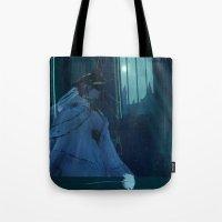 dark souls Tote Bags featuring Dark Souls - Dark Sun Gwyndolin by Vulpa