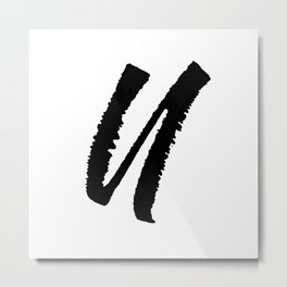 Letter U Ink Monogram Metal Print