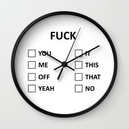 F that this me you Wall Clock
