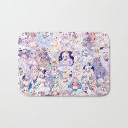 Booette Manga Anime Girls Collage in Colour Bath Mat