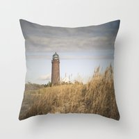 lighthouse Throw Pillows featuring Lighthouse  by Maria Heyens