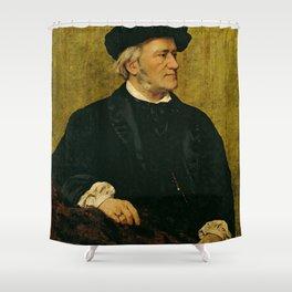 Richard Wagner (1813 – 1883) by Giuseppe Tivoli (b.1845) Shower Curtain