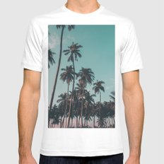 Palm trees MEDIUM Mens Fitted Tee White