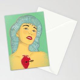 Shot Through The Heart - Bon Jovi, Lyrics, Song, Music Illustration Stationery Cards