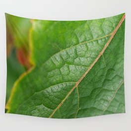 green leaf Wall Tapestry
