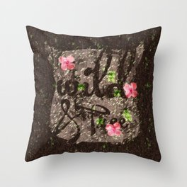 Wild and free natural Throw Pillow