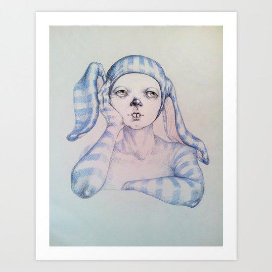The one who waited Art Print