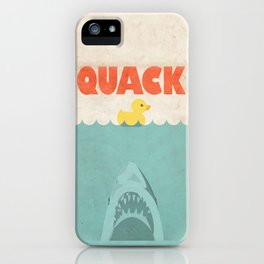 Jaws Rubber Duck iPhone Case