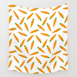 CARROT CARROTS VEGGIE FOOD PATTERN Wall Tapestry
