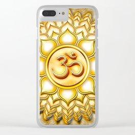 Crown Chakra - Sahasrara Chakra Golden - Series I Clear iPhone Case