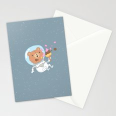 Space Bear Stationery Cards