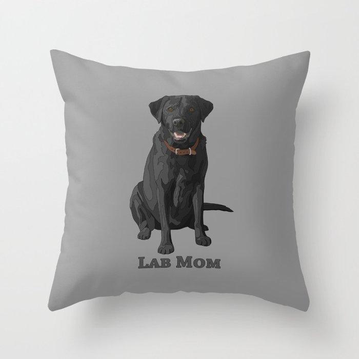Dog Mom Black Labrador Retriever Deko-Kissen