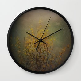 Vintage flowering bloom Wall Clock