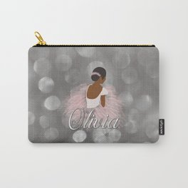 African American Ballerina Dancer Personalized Name OLIVIA Carry-All Pouch