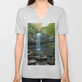 Image USA Cloudland Canyon State Park Crag Nature Waterfalls park Stones Rock Cliff Parks stone Unisex V-Neck