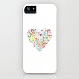 Floral Heart iPhone Case