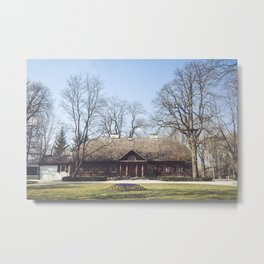 Larch manor house Metal Print