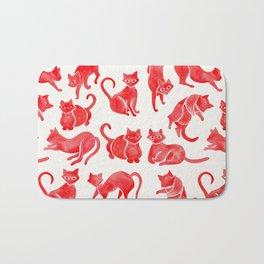 Cat Positions – Red Palette Bath Mat